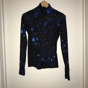 F21 reflective galaxy zip up jacket